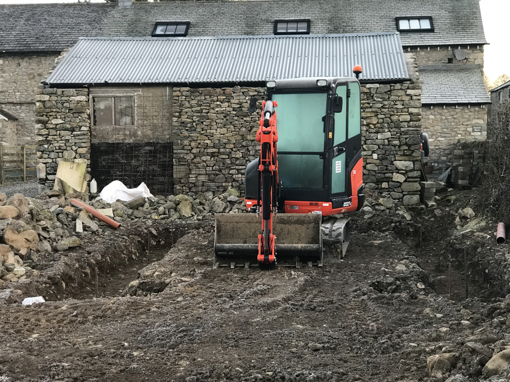 Digging Foundations with Mini-Digger